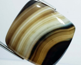 49.70 ct Natural Brown Lace Agate Rectangular Cabochon  Gemstone