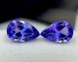 $10000 GIL ~ Tanzanite Pair Flawless Pieces 6.73 CTS Gem