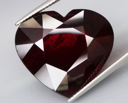 44.97 Ct.Outstanding Color! Natural JUMBO Red Spessartite Garnet HEART Love