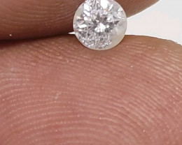 Certified Nat  $1101 Fiery 0.51cts I1 White Loose Diamond Round