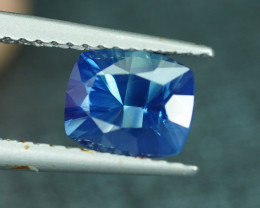 CERTIFIED UNHEATED 1.55CT CONCAVE CUT BLUE SAPPHIRE $1NR!