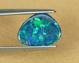 1.69CT NEON BLUE & GREEN AUSTRALIAN OPAL DOUBLET $1NR!