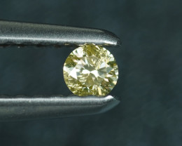.07CT FANCY YELLOW NATURAL COLOR DIAMOND $1NR!