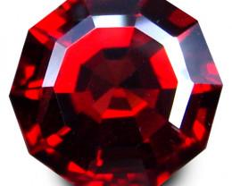 4.85Cts Genuine Natural Unheated Almandaine  Garnet Octagonal Cut  Loose Ge