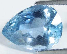 7.37Cts Genuine Natural Blue Color Unheated Aquamarine Pear Loose Gem VIDEO