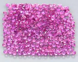 300 Pcs/5.50 Ct./1.4 mm. Natural Earth Mined Pink Purple Rhodolite Garnet