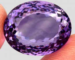 30.44 Ct. Top Quality 100% Natural Rich Purple Amethyst Uruguay Unheated