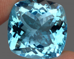 37.54 ct. 100% Natural Earth Mined Top Quality Blue Topaz Brazil