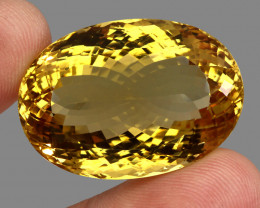 102.40 ct. Top Quality Natural Earth Mined Golden Yellow Citrine Brazil