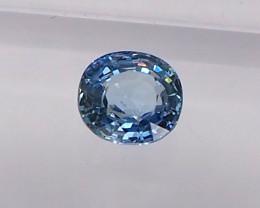 Clean unheated blue sapphire