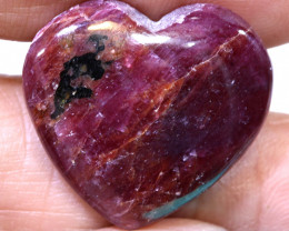 36.10 CTS RED RUBY HEART CARVING  PG-522preciousgems