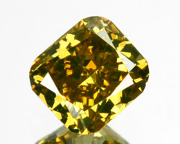 ~UNTREATED~ 0.17 Cts Natural Fancy Yellow Diamond Cushion Africa