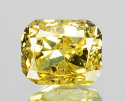 ~UNTREATED~ 0.28 Cts Natural Yellow Diamond Cushion Cut Africa