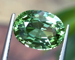 4.18 ct Mint Color Mozambique Tourmaline With Excellent Luster And Fine Cut