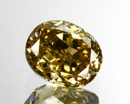~UNTREATED~ 0.24 Cts Natural Golden Brown Diamond Oval Africa