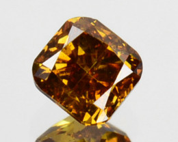 ~UNTREATED~ 0.18 Cts Natural Cognac Diamond Cushion Africa