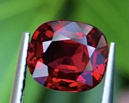 1.85 ct Vivid Red Color Spinel With Excellent Luster And Fine Cutting  Gems
