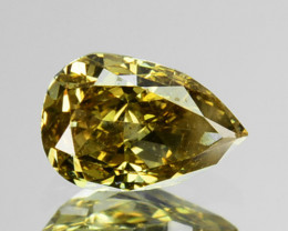 ~UNTREATED~ 0.27 Cts Natural Greenish Yellow Diamond Pear Africa