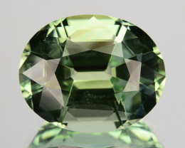 6.20 Cts NATURAL TOURMALINE - GREEN - OVAL - MOZAMBIQUE