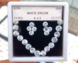 17.70Cts Zircon 4 & 4.5mm Round 23Pcs 100% Natural Unheated Cambodia