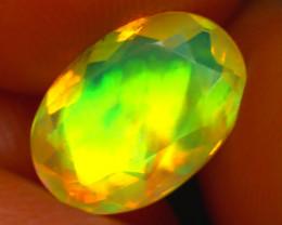 Welo Opal 1.23Ct Natural Ethiopian Faceted Welo Opal E0326/A44