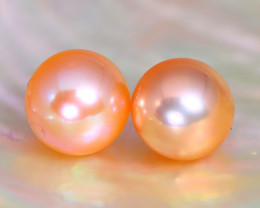7.8mm 6.55Ct Natural Australian South Sea Orange Color Pearl F3415