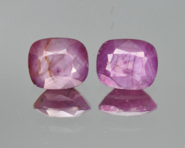 Natural Ruby Pair 3.35  Cts from Guinea