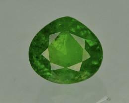 HGTL Certified Tsavorite Garnet 2.00 Ct Forest Green Color Rare Natural Tsa