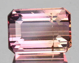 ~EMERALD CUT~ 2.60 Cts Natural Pink Tourmaline Mozambique