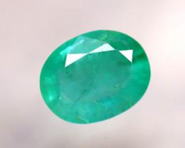 Emerald 1.44Ct Natural Zambia Green Emerald D0423/A38