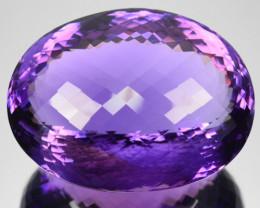 ~HUGE~ 132.11 Cts Natural Beautiful Purple Amethyst Oval Bolivia