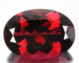 ~RAREST~ 28.08 Cts Natural Red Apatite 25x17.5mm Oval Cut Brazil
