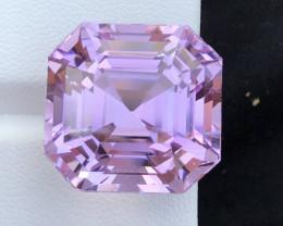 48 carats natural pink Asscher cut kunzite gemstone