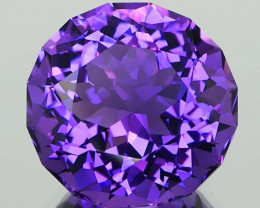 *NR* Vibrant Purple Amethyst Round with Faceted Girdle 20.98Ct