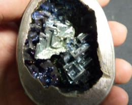 0.9 lb Blue egg sized bismuth hand specimen