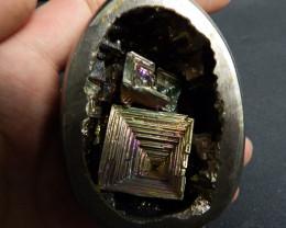 1370  carats bismuth egg metallic specimen complete