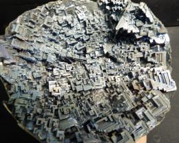 2.9 lbs Large cubic Metallic Blue colored bismuth bowl specimen