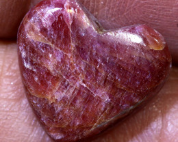 7.40 CTS RED RUBY HEART CARVING  PG-545 preciousgems