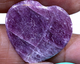 16.25CTS RED RUBY HEART CARVING  PG-553preciousgems
