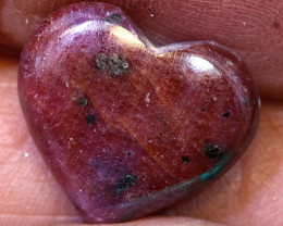 8.55 CTS RED RUBY HEART CARVING  PG-561preciousgems