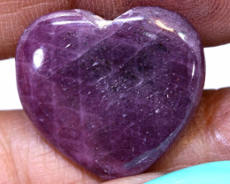 22.95 CTS RED RUBY HEART CARVING  PG-586preciousgems