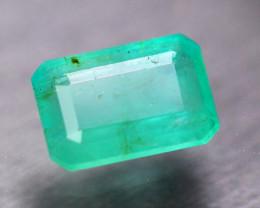 2.91ct Natural Zambia Green Emerald Octagon Cut Lot V7451