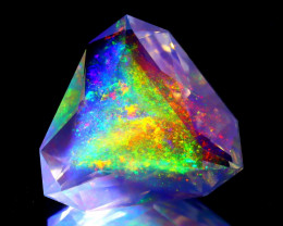 ContraLuz 7.08Ct Trillion Cut Mexican Very Rare Species Opal C0131