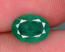 Top Quality 1.40 ct Zambian Emerald Vivid Green Color
