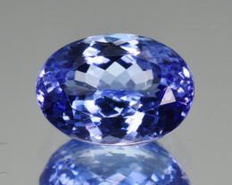 Natural Tanzanite 3.70  Cts Top Grade  Faceted Gemstone
