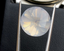 Sparkle Moonstone 10.15 cts High Grade Moonstone Round Funcy Cut Piece Ring