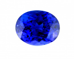 3.675(ct) Marvelous Bluish/Purplish Color Tanzanite perfectly cut Faceted G