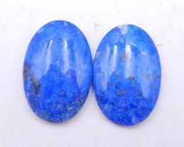 P0269 - 65Ct Natural Lapis Lazuli Gemstone Cabochons Pair,Natural oval Cabo