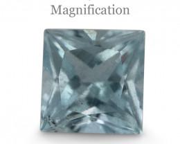 1.06ct Square Aquamarine-$1 No Reserve Auction
