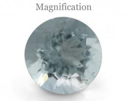 1.67ct Round Aquamarine-$1 No Reserve Auction